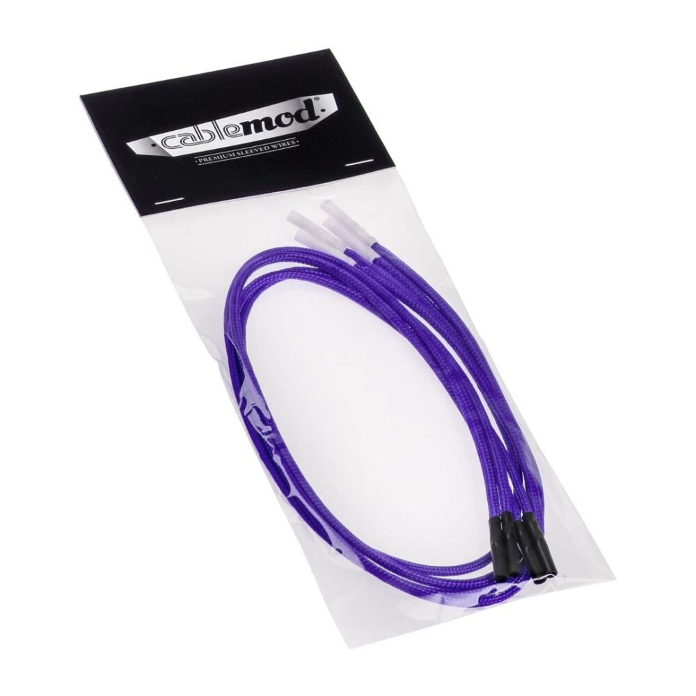 CableMod ModFlex™ Sleeved Wires – Purple 24 inch – 4 Pack   CableMod