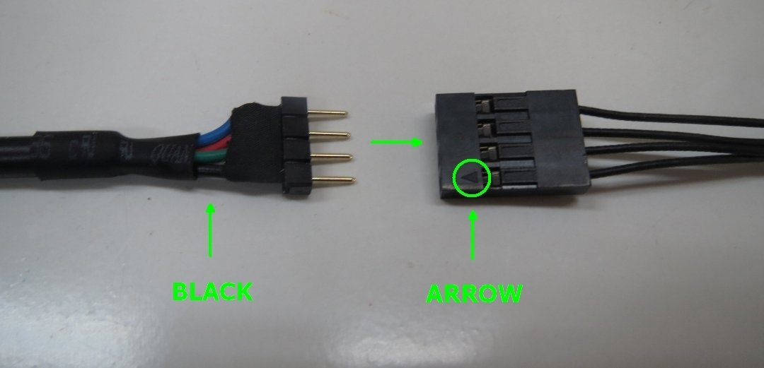 How do I connect the WideBeam RGB LED Strip to my ASUS