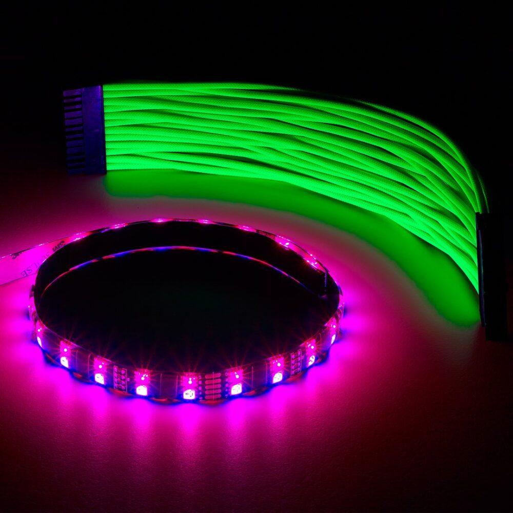 Nouveau CableMod WideBeam Hybrid LED Strip 60cm – RGB/UV – CableMod AJ-42