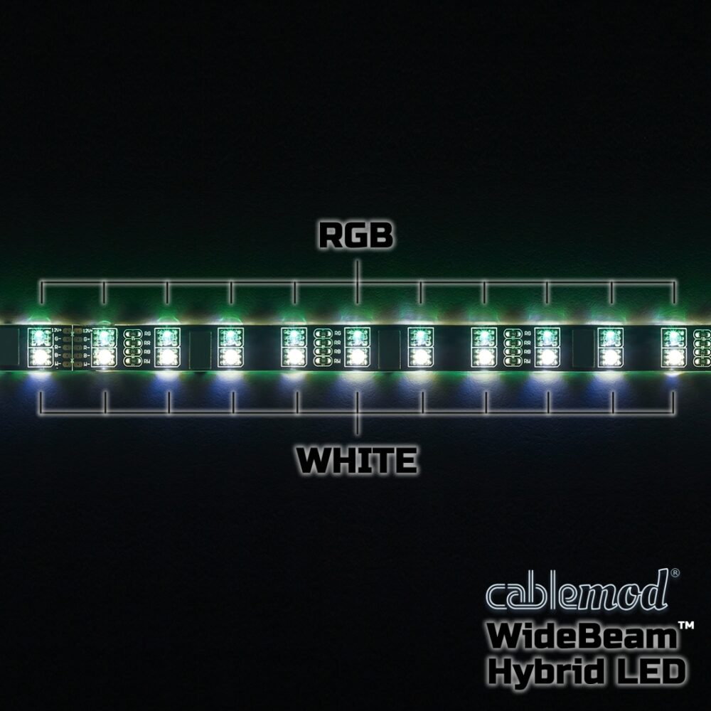 CableMod WideBeam Hybrid LED Strip 30cm – RGB/W – CableMod