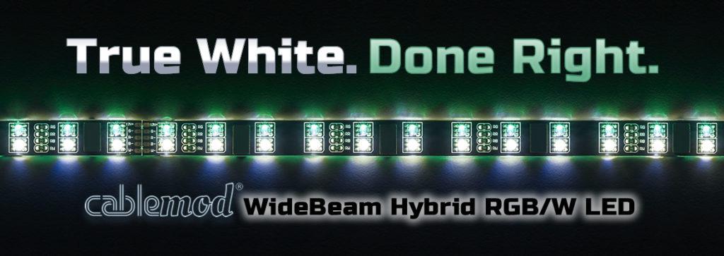 WideBeam™ Hybrid RGB/W LED Strips – CableMod